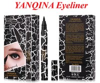 Wholesale YANQINA Eyeliner Women Girl Beauty Makeup Eyeliner Waterproof Extreme Black Liquid Pen Easy to Wear Long lasting VS NYX EYELINER PENCIL