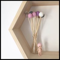 Wholesale Felted Wool Balls Wooden pole Kids Room Decoration Tent Decoration Photography props Hair ball Decoration
