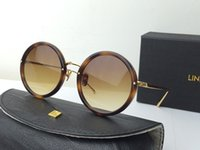 beach linda - Linda Farrow crystal gold brown shaded Sunglasses brand new with case