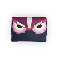 Wholesale Little monster accordion wallet in genuine stingray leather Most popular cute monster purse