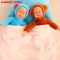 Unisex 3-4 Years Push 26cm Plush Stuffed Baby Born Doll Toys For Baby Silicone Reborn Alive Babies Lifelike Kids Toys Sleep Reborn Doll For Kid