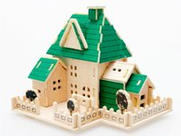 architecture red - Architecture Construction Small Purple Red Villa Cabin Building Toys DIY D Puzzle Miniature Model Educational Toys