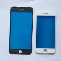 Wholesale 5pcs A Outer Glass with Middle Frame Bezel For iPhone G plus Pre Assembled Front Glass Lens with Frame