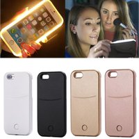 battery cable leads - 2016 Fashion LED Light Up Selfie Luminous Cover Case for iPhone6 S SPlus Phone Back Case With USB Cable Protective Shell new