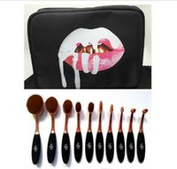 Wholesale Kylie Oval Makeup Brush Cosmetic Foundation Powder Blush pieces Makeup Tools bag