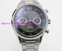 automatic movement watch stopped - EMS shipping Dress gent High quality sapphire auto movement Chronograph stop watch FlyBack series brand men s wrist watch