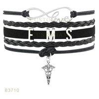 10 PCS / Lot) Infinity Love Ems Métal Charm Bracelets Bracelets Suede Cuir personnalisé Tous les thèmes Drop Shopping