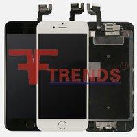 achat en gros de apple photo 3d-Écran LCD de haute qualité A +++ pour iPhone 6S Ensemble de numériseur à écran tactile de 4.7 pouces avec bouton maison + appareil photo avant + haut-parleur d'enceinte 3D Touch