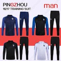 Wholesale 2016 France man soccer Training suit France Training sweater tracksuit training suit football shirt pant Thailand quality