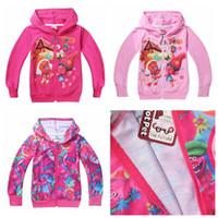 Wholesale fast Color Girls Trolls Branch Hoodies Sweatshirts NEW children Christmas cartoon Long sleeve Hoodie jacket kids coat