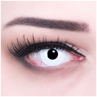 Wholesale Hot sellers pure White Crazy Contact Lenses piece pair Halloween and Cosplay contacts