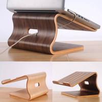 Wholesale Original Samdi Heat Dissipation Wooden Stand for MacBook Air Pro Wood Laptop Lapdesks Holder