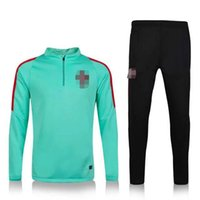 Wholesale Customized Thai Quality New Portuguese green training clothing embroidery