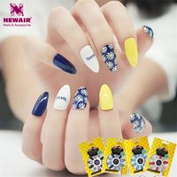 Wholesale Long Stiletto Nails with Glue Full Cover Flower False Nails Acrylic Nail Tips Artificial Decorated Women Gift