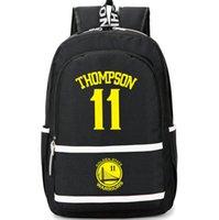 Sac à dos Klay Thompson Sac à dos en couleur noire Bon sac pour école de joueur Sac à dos de basket-ball Sac de sport Sac de jour en plein air