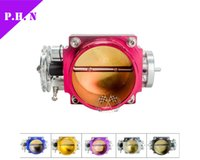 Wholesale 100 mm Universal AluminumThrottle Body CNC Billet Intake Manifold High mm color purple Blue black Red Silver Gold