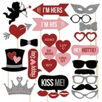 arrow paper party - 27pcs Valentine s Day Photo Booth Props Photo Cupid s Arrow Crown Heart On A Stick Weeding Party Favor DIY Masks