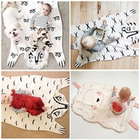 Printed baby tiger games - 2016 Hot Sale Fashion baby Blanket Game Mat Bear Blanket Baby Tiger Blanket Animal Carpet Warm Bear Play Mats Autumn Winter