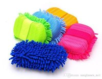 Wholesale 4 Colors Microfiber Chenille Car Cleaning Mitt Car Wash Cleaning Glove Equipment Car Detailing Cloths Home Duster Cleaning PPA547