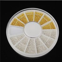 Wholesale Wheel D DIY Tiny White Gold Circle Bead Decoration Nail Art Caviar Stickers