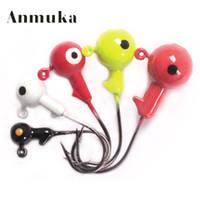 Wholesale Anmuka jig heads g g g g g Beautiful Lead Round Head Fishing Lure Jigs Hooks High Quality