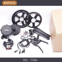 Wholesale New Colorful Display v w fun bafang Motor BBS02 Latest Controller Crank Motor Eletric Bicycles Trike Ebike Kits Fedex Ship
