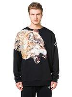 bape bag - Marcelo Burlon high Brand Men Hoodies Sweatshirts Angry Wolf Long Sleeve Casual Men s Outwear with brand bag Eur Size