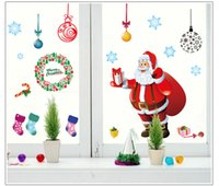 Wholesale Wall stickers manufacturers B Christmas holiday stickers PVC removable old report this product belongs to the procurement trade
