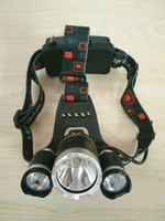 Wholesale 2016 Hot Lumen T6 Boruit Head Light Headlamp Bike Outdoor Light Head Lamp HeadLight Rechargeable by x Battery Fishing Camping