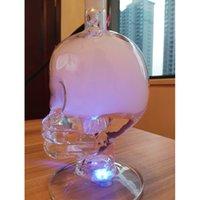 al fakher shisha - al fakher led shisha skull glass shisha hookah with pu lock bag package