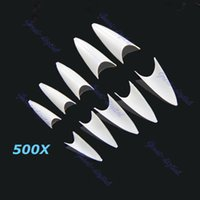 Wholesale Sharp Ending Stiletto Acrylic False Nail Tips Beige Art Beauty