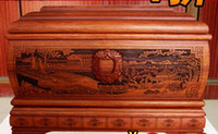 Wholesale Solid wood urn box Shengshi Wonderland moving grave coffin African pear Ebony Lao Feng brand to eliminate fake black and purple