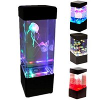 Cup bedside water - New Relaxing Bedside Mood Lamp Volcano Water Aquarium Fish Tank LED Light MLLW_001
