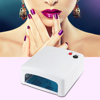 Wholesale Professional W UV Lamp V Curing Light Nail Art Tools White Pink EU UK US Plug