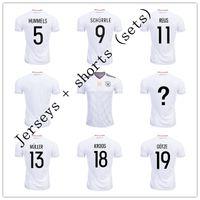 Cheap Ozil Reus Gotze Kroos Germany jerseys National Team Soccer 2017 Confederations Cup Home white Custom Football Shirt Cheap Set uniforms kit
