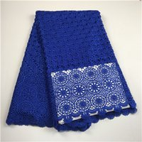 Wholesale high quality guipure Lace nigerian lace fabrics water soluble african lace fabric for wedding dress yards