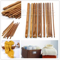 afghan hook - set Sizes Afghan Tunisian Bamboo Handl Crochet Hooks Needles Knit Knitting Weave Craft Tool