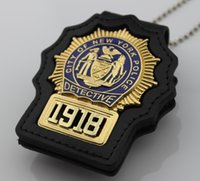 badge collection - insignia badges and patches collection NYPD detective Replica metal badge with number
