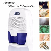 auto cool led indicator - Portable Mini Semiconductor Dehumidifier Desiccant Moisture Absorbing Air Dryer Thermo electric Cooling for Wardrobe Home Bathroom Kitchen