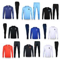 Wholesale 2016 soccer tracksuits home away champion league survetement Real Madrid Chelsea Marseille Ronaldo UCL training sweater pants sportwear