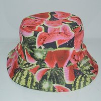 Wholesale Hot selling unisex camping hiking hunting fisherman outdoor quick dry polyester watermelon bucket hat cap men women gorras