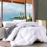 Wholesale Hot Sale Soft Quilt White Quilted Bedspread Warm Thicken Comforters Patchwork Blanket Home Textile JQ0049