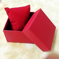 Wholesale Fashion Watches boxes paper square Watch Box with Pillow colors Gift Boxes Case For Jewelry Box Watch Package Wristwatch Packing