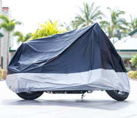 Wholesale All Season Black Waterproof Sun Motorcycle Cover size Large to XXXX Large