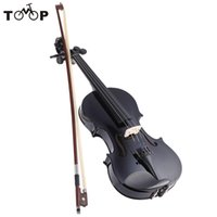 Wholesale ammooon Violin Fiddle Metallic Black Equipped with Steel String w Arbor Bow Case for Beginners Music Lovers
