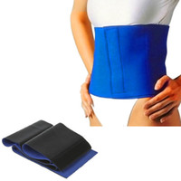 Wholesale Waist Slimming Belt Hot Sauna Neoprene Body Fitness Wrap New Fat Cellulite Burner Slimming Shaper Waist Belt Body Sculpting Belt F115