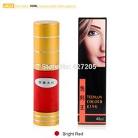 Wholesale Hao Tattoo JX23 Bright Red Eyebrow Permanent Makeup Pigment Vacuum Sterile Cosmetic Tattoo Ink ml Makeup Supplies