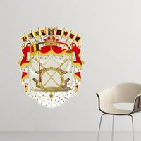 belgium art - Belgium National Emblem Country Symbol Mark Pattern Removable Wall Sticker Art Decals Mural DIY Wallpaper for Room Decal