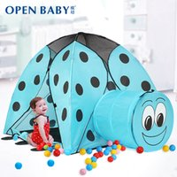best animes - Best Quality Kids Beetle Game House Indoor Outdoor Baby Ultralarge Ventilation With Tunnel Ocean Ball Pit Pool Tent For Child