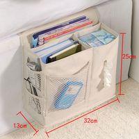 bedside organizer - household bed Sofa hanging bedside Storage bag Hang Sundries Tool remote control books phone Tissue Holder Organizer bag